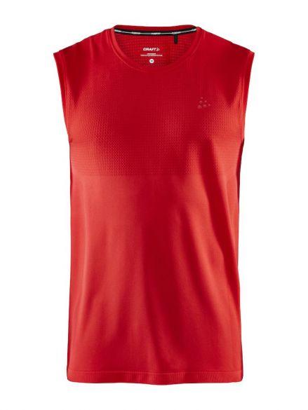 Craft Fuseknit light mouwloos ondershirt rood heren  1908842-430000