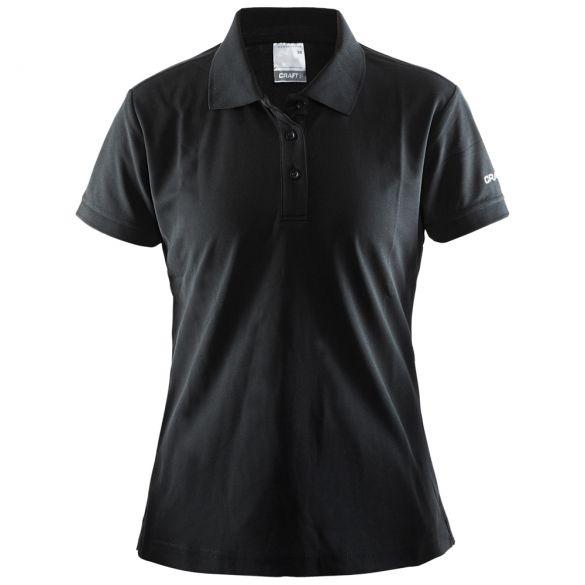 Craft Polo korte mouw zwart dames  192467-1999-VRR