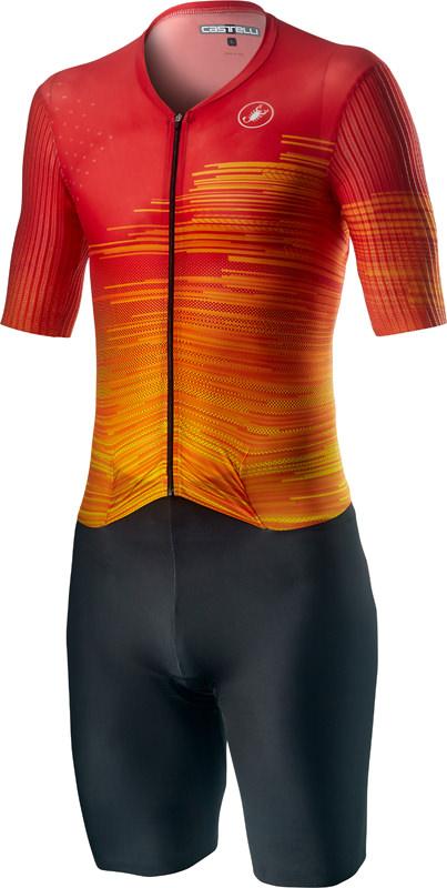 Castelli PR speed trisuit korte mouwen zwart/rood heren  20091-051