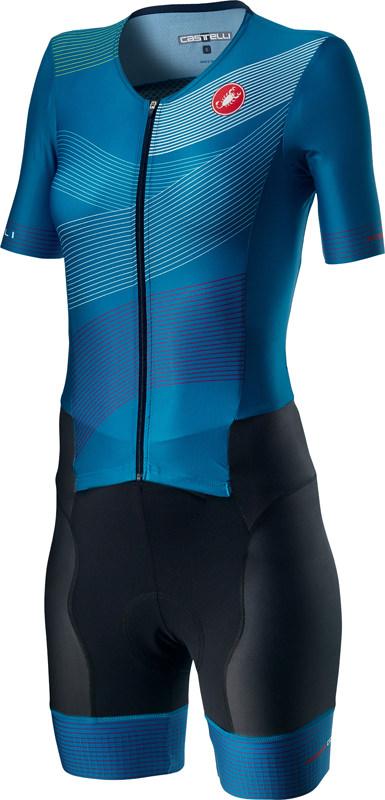 Castelli Free Sanremo 2 W trisuit korte mouwen zwart/blauw dames  20096-420