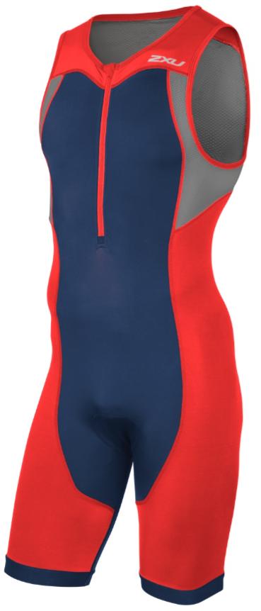 2XU Active Trisuit rood/blauw heren  MT4361dTRD/NVY