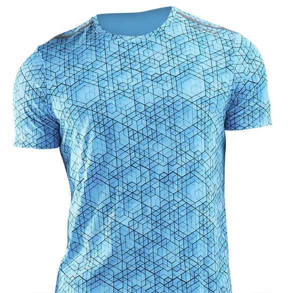 2XU GHST hardloopshirt korte mouw blauw heren  MR6210a-MXABRF