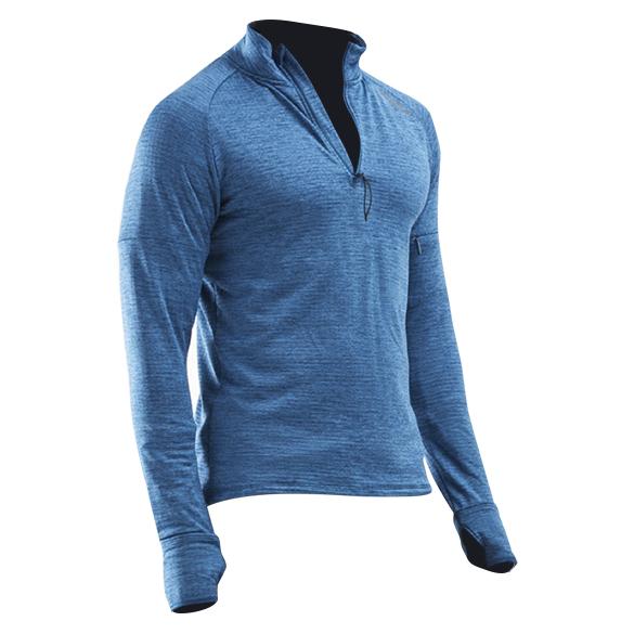 2XU Pursuit Thermal 1/4 Zip hardloopshirt lange mouw blauw heren  MR6231a-POSSRF