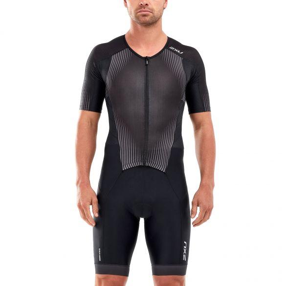 2XU Perform korte mouw trisuit zwart heren  MT5525D-BLK/SDW
