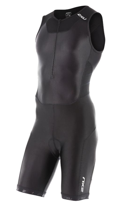 2XU Trisuit X-vent front zip zwart heren  MT4354dBLK/BLK