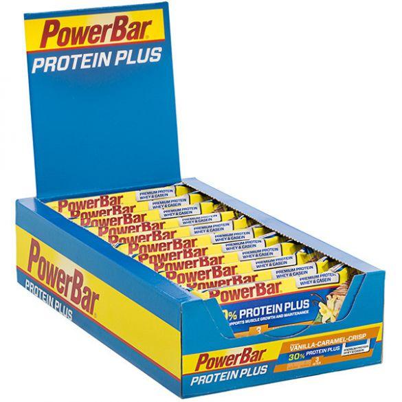 Powerbar Protein plus 30% bar caramel vanille 15 x 55 gram  3254
