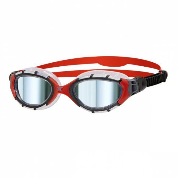Zoggs Predator flex titanium zwembril rood/zwart  461054-310843
