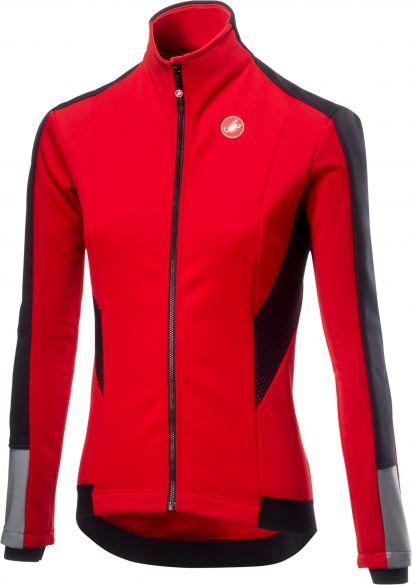 Castelli Mortirolo 3 W lange mouw jacket rood dames  18542-023