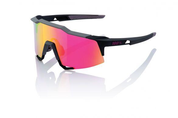 100% Speedcraft fietsbril soft tact graphit met mirror lens  18/61001M-150-72