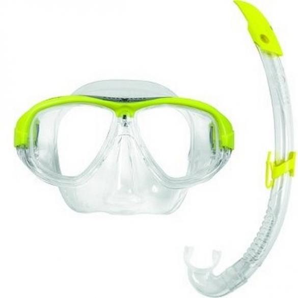 Aqua Lung Sport Coral LX + Airflex LX Snorkelset geel  AS111850