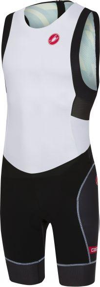 Castelli Short distance race trisuit rits achterzijde mouwloos wit/zwart heren  18111-101-vrr