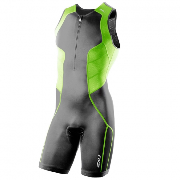2XU Comp Trisuit Charcoal Green (MT2260d)  2XUMT2260dGREEN