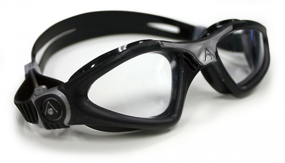 Aqua Sphere Kayenne Zwembril transparante lens zwart/zilver  AS170760