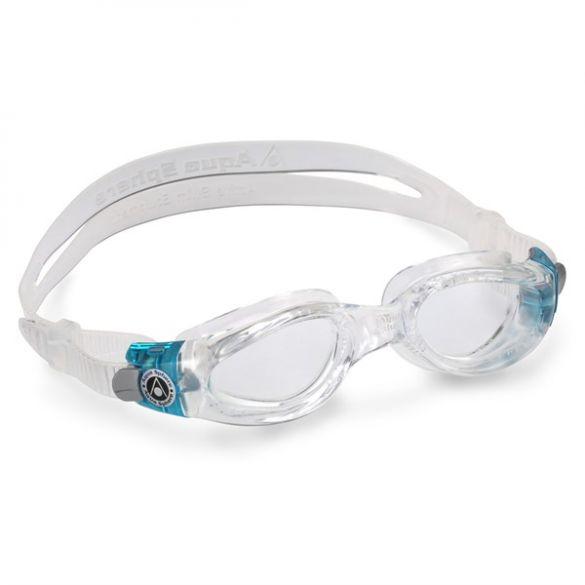 Aqua Sphere Kaiman transparante lens small fit zwembril aqua/wit  ASEP1190043LC