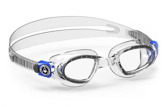 Aqua Sphere Mako transparante lens zwembril silver  ASEP2850040LC