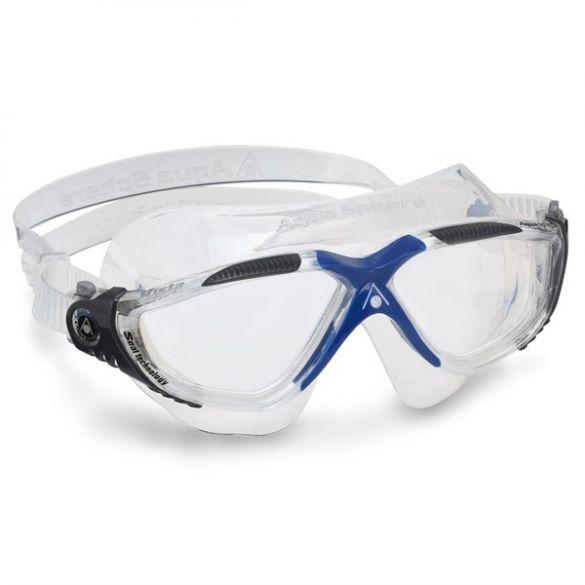 Aqua Sphere Vista transparante lens zwembril grijs  ASMS1730012LC