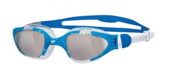 Zoggs Aqua flex transparante lens zwembril blauw/wit  306487