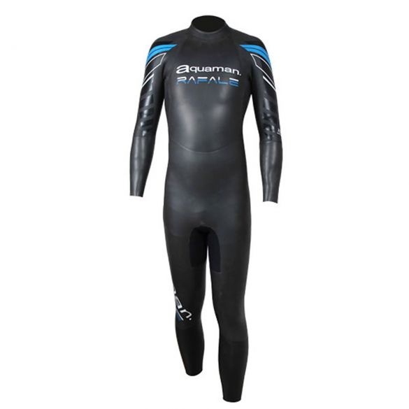 Aquaman Rafale lange mouw wetsuit zwart/blauw heren  ARA19