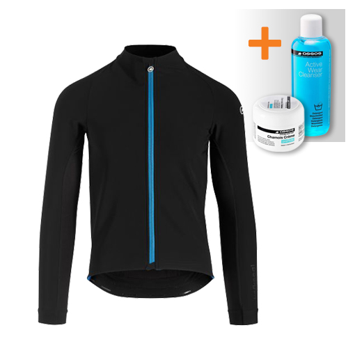 Assos Mille GT winter lange mouw jacket zwart/blauw heren  113034573
