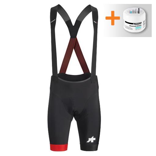 Assos S9 Equipe RS bibshort zwart/rood heren  111019047