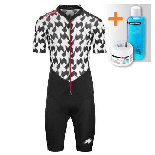 Assos S9 LeHoudini RS Aero RoadSuit zwart/wit heren  111118099