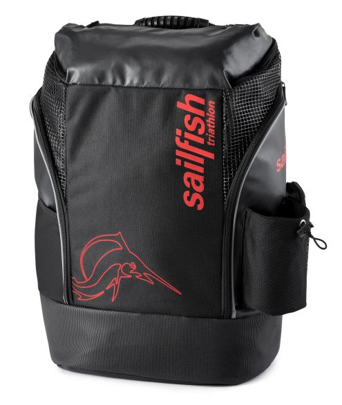 Sailfish Triathlon rugzak cape town 35 liter zwart/rood  SL3029