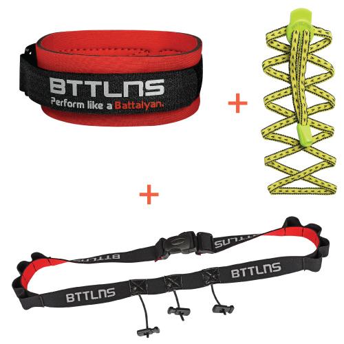 BTTLNS Triathlon accessoires voordeel pakket geel  0318004-666