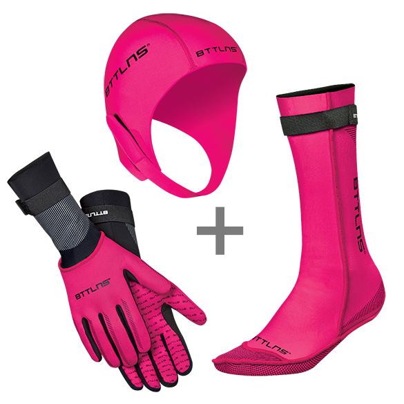 BTTLNS Neopreen accessoires voordeelset roze  0120010+0120011+0120012-072