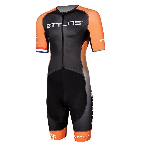 BTTLNS Typhon 2.0 trisuit korte mouwen zwart/oranje heren  0219008-120