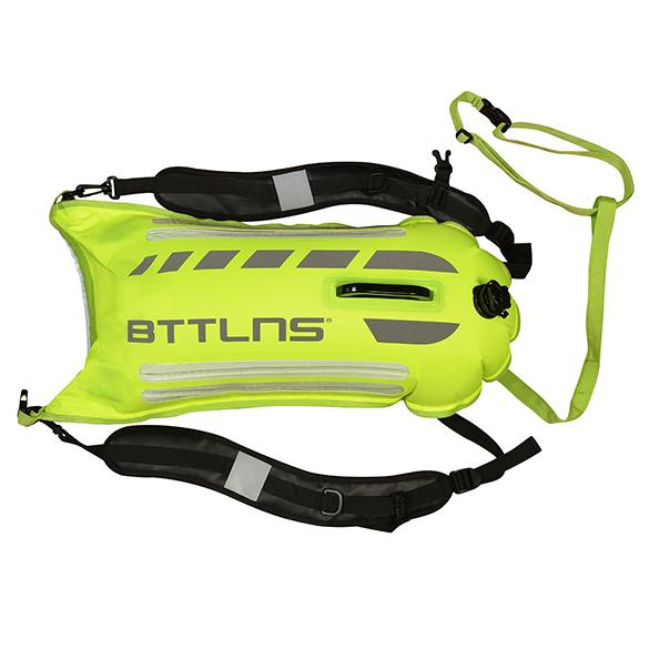 BTTLNS Saferswimmer veiligheid verlichte zwemboei Scamander 2.0 neon groen  0520003-044