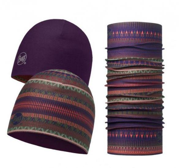 BUFF Microfiber reversible hat + original BUFF combi oslo paars  113283622