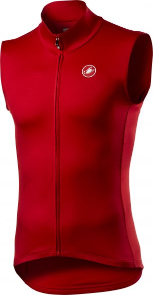 Castelli Pro thermal mid fietsvest mouwloos rood heren  20513-023