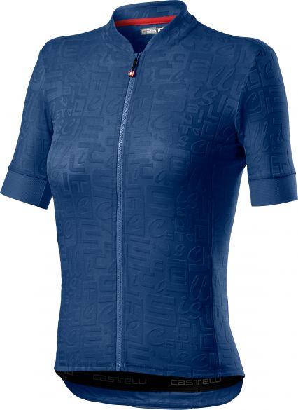Castelli Promessa Jaquard SS fietsshirt blauw dames  21055-964