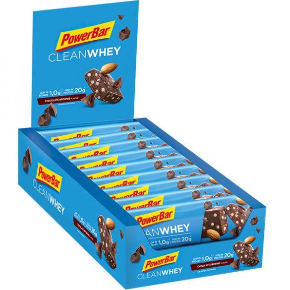Powerbar Clean whey bar chocolade brownie 18 x 60 gram  3445