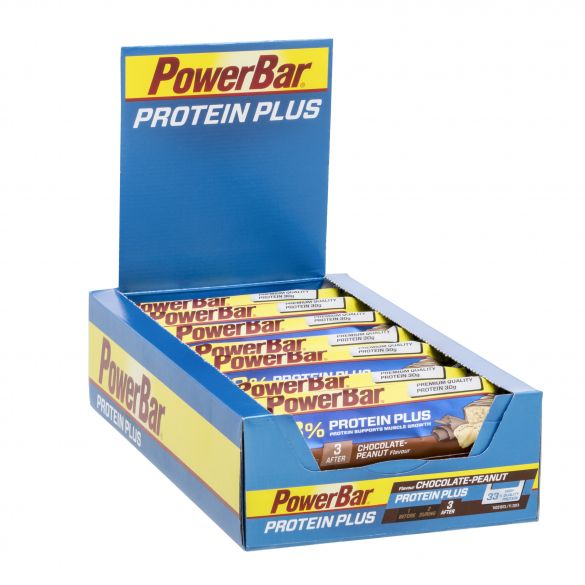 Powerbar Protein plus 33% bar chocolade pinda 10 x 90 gram  3427