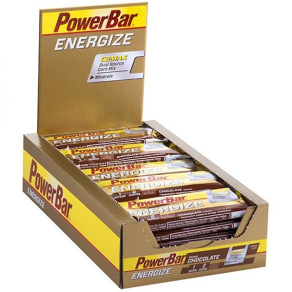 Powerbar Energize bar energiereep chocolade 25 x 55 gram  3202
