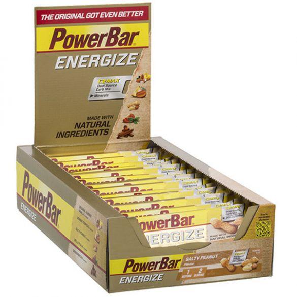 Powerbar Energize bar energiereep zoute pinda 25 x 55 gram  3208