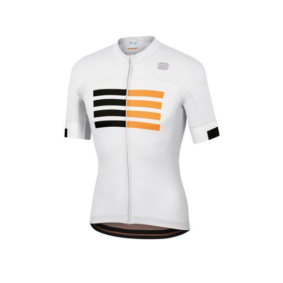 Sportful Wire fietsshirt korte mouwen wit heren  1120008-101