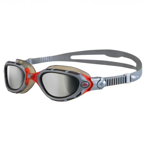 Zoggs Predator Flex zwembril grijs/rood - spiegellens  305848