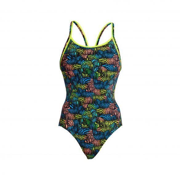 Funkita Colour Run Eco diamond back badpak dames  FKS033L02507