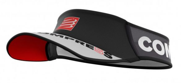 Compressport Ultralight hardloop visor zwart  VISORV202