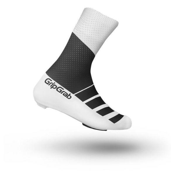 GripGrab RaceAero TT overschoenen zwart/wit  2013