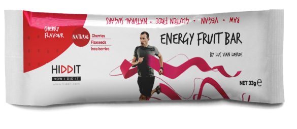 Hiddit Energy fruit reep kers 12x33g  HIDENFRBACH