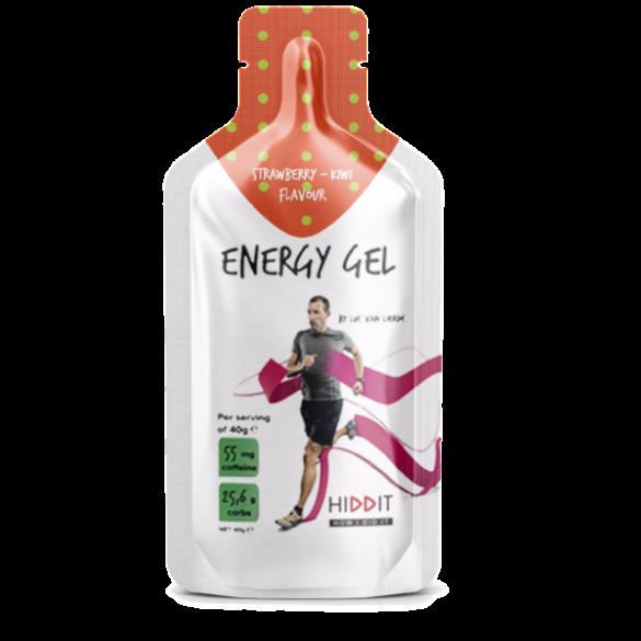 Hiddit Energy gel box aardbei - kiwi 10x3 (40g)  HIDENGESTKI