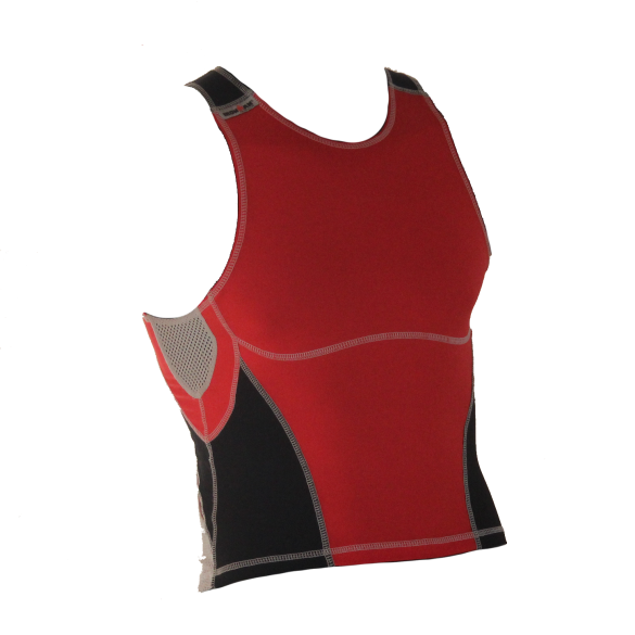 Ironman tri top mouwloos olympic rood/zwart heren  IM7503-15/05