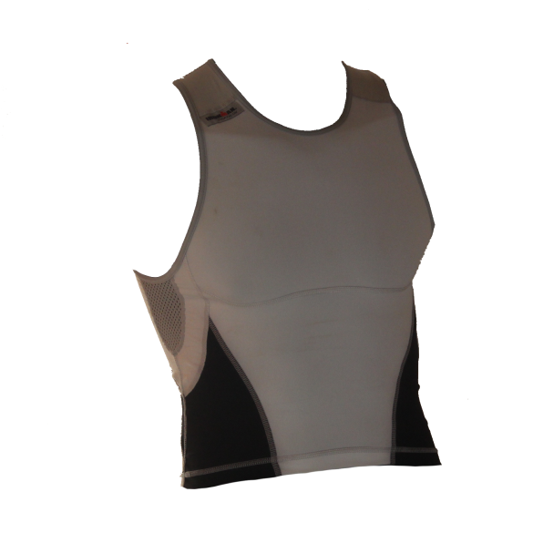 Ironman tri top mouwloos new olympic wit/zwart heren  IM8503-03/15