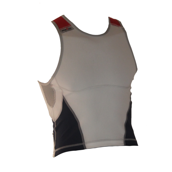 Ironman tri top mouwloos new olympic wit/blauw heren  IM8503-03/41