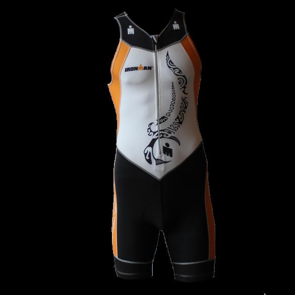 Ironman trisuit front zip mouwloos multisport tattoo wit/oranje heren  IM8902-03/13