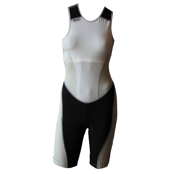Ironman trisuit back zip mouwloos extreme suit wit/grijs dames  IMW7517-03/10