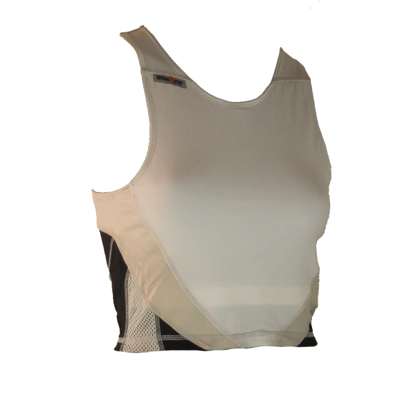 Ironman tri top mouwloos extreme wit/zwart dames  IMW7543-03/10